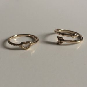 2 gold rings pack!!